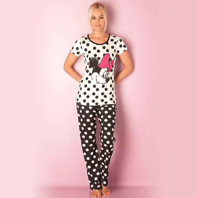 Pijama Disney Mickey y Minnie para mujer (Negro)