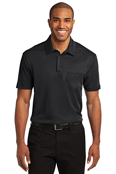 6cbc4e75ec1 Port Authority Men s Silk Touch Performance Pocket Polo at Amazon ...