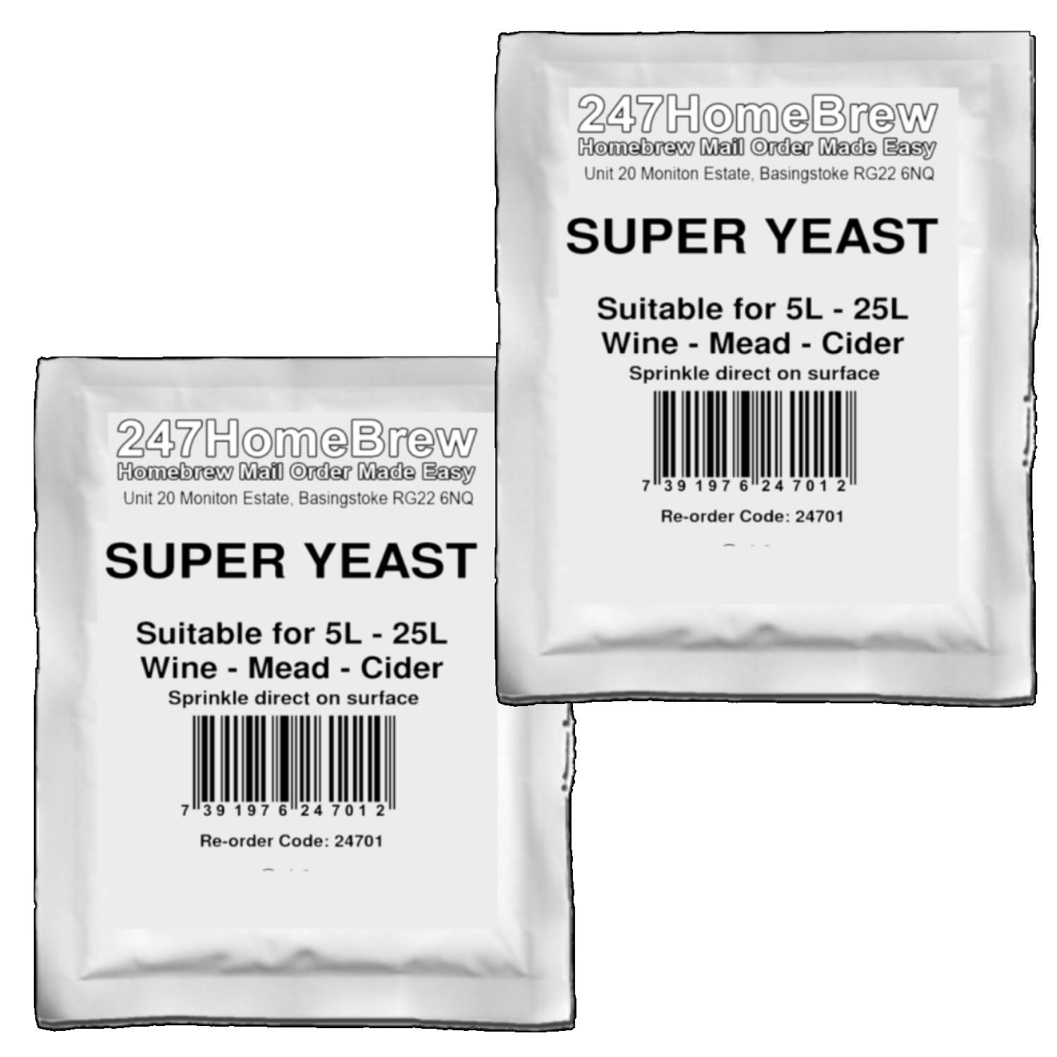 Cider and Mead 5x Super Wine Yeast and No-Rinse Steriliser Pack Homebrew Wine