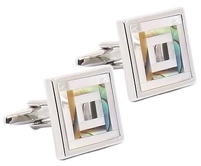 Cufflinks Direct Mancuernas gemelas para Hombre y Madreperla Mosaico para Hombre - Gemelos DIRECTOS (Gemelos