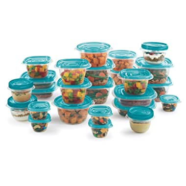 Rubbermaid Take Alongs 50-Piece Food Storage Container Set (Teal)