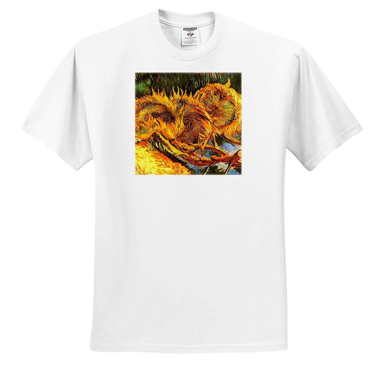 Masterpieces Four Sunflowers T-Shirts Van Gogh 3dRose VintageChest