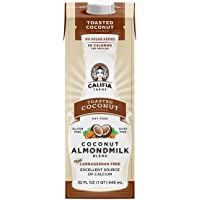 Califia Farms - Almond Milk, Toasted Coconut, 32 Oz (Pack of 6) | Dairy Free | Soy Free |Nut Milk | Plant Milk | Gluten…