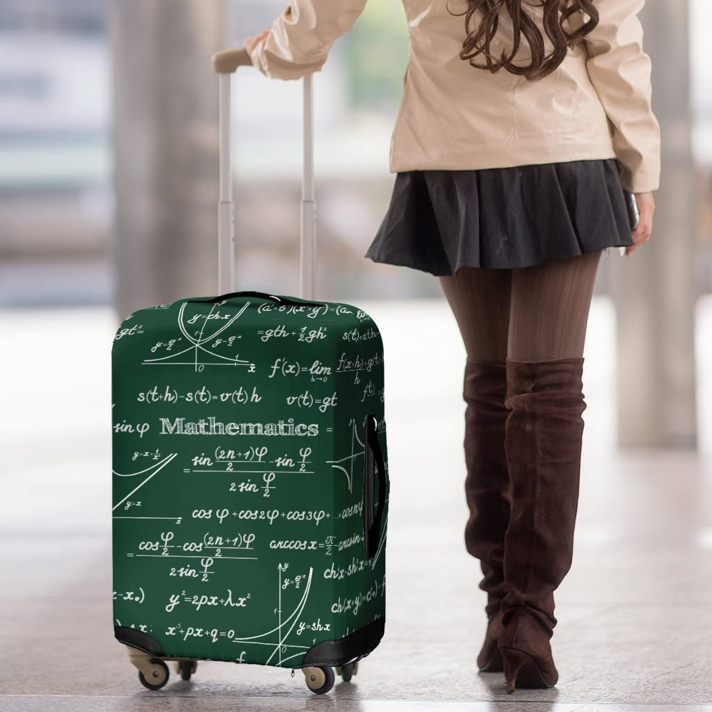 DealioHound Mathematica Science Chalkboard Green Rolling Travel Luggage Cover//Protector