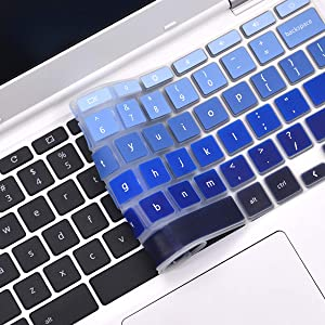 """FORITO Keyboard Cover Compatible with 11.6"""" N20 N21 N22 N23 Chromebook /2019 2018 Chromebook C330 11.6"""" / Flex 11 Chromebook 11.6""""/11.6"""" Chromebook 100e 300e 500e -Ombre Blue"""