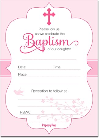 Amazon 30 baptism invitations girl with envelopes religious amazon 30 baptism invitations girl with envelopes religious christening celebration invites fill in style toys games stopboris Image collections