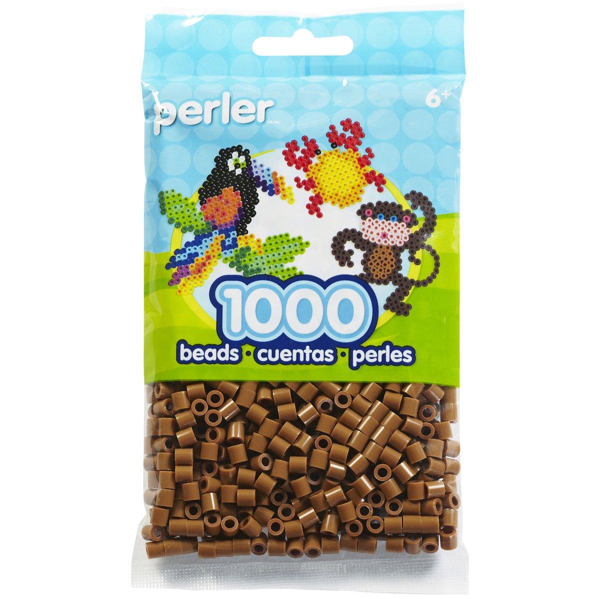 Canutillos Perler Fuse Beads, 1000 unidades, marron claro