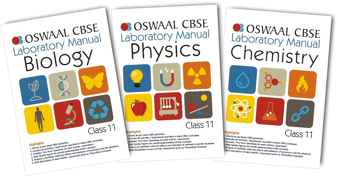 Oswaal CBSE Laboratory Manual for Class 11 Physics, Chemistry & Biology:  Panel of Experts, NA: 9788184818321: Amazon.com: Books
