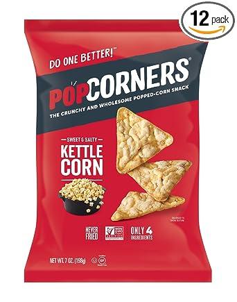 Popcorners, papas fritas de maíz, sin gluten, sin OMG, una ...