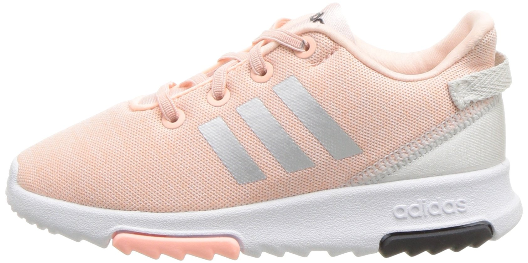 adidas Kids CF Racer TR Running Shoe, Haze Coral/Metallic Silver/White, 4K M US Toddler by adidas (Image #5)