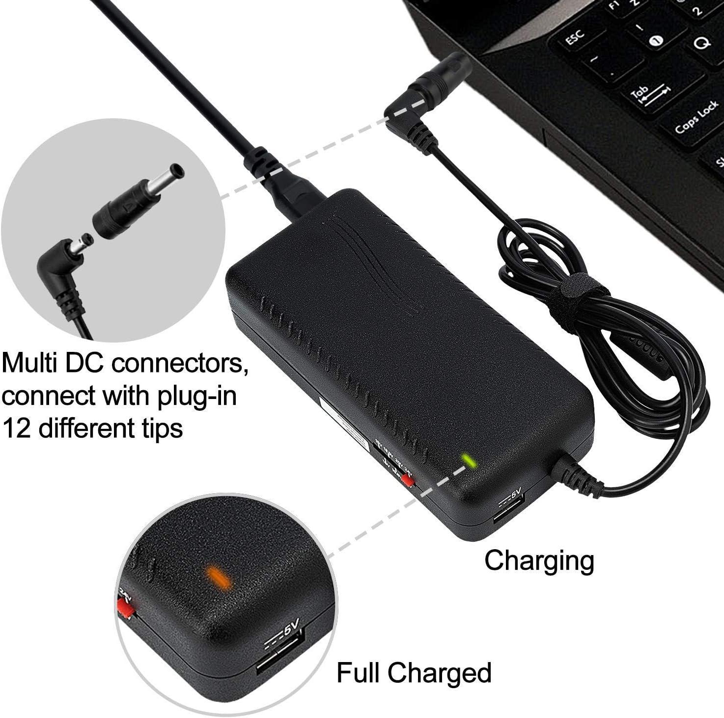 Amazon.com: Selectec Universal 12 Tips Laptop AC Adapter ...