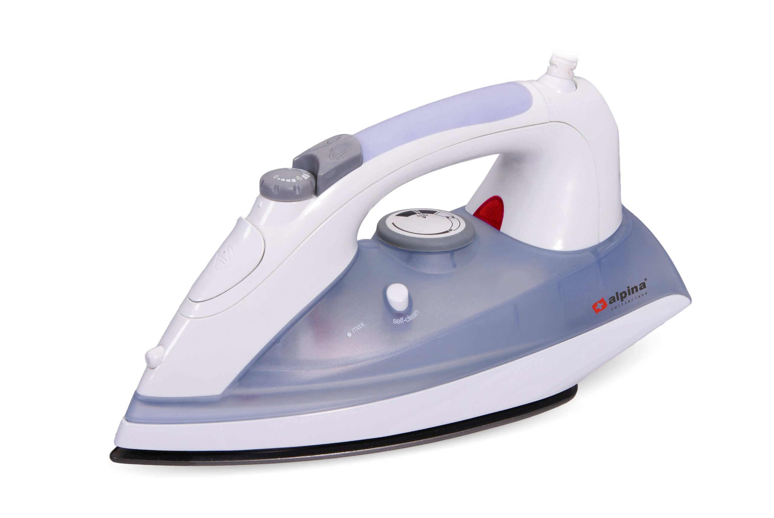 Alpina SF-1304 Auto Shut-off 2200 Watt Non-Stick Steam Iron with Self Cleaning - For 220V / 240 Volt (Not for Use in USA)