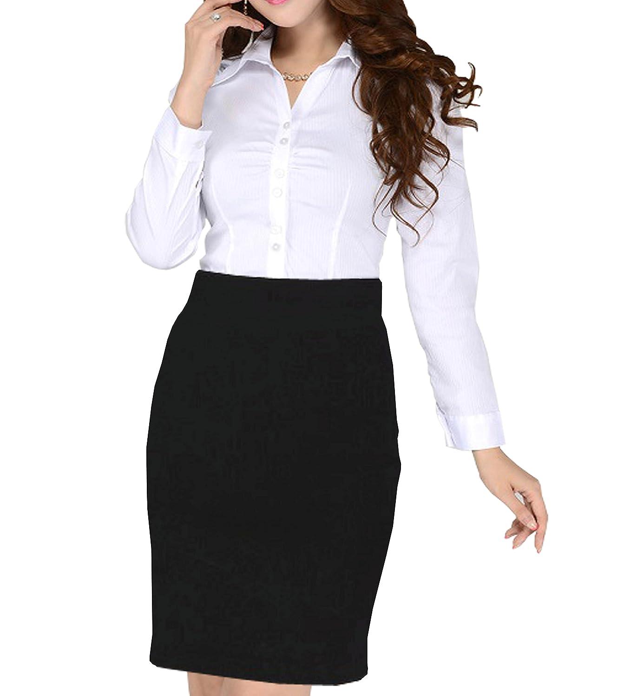 femiss Girls School Uniform Pencil Skirt Ladies Womens Office Bodycon Pencil midi Skirt
