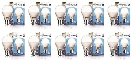 Wipro 9W LED Bulb Cool Day Light   Tejas  Pack of 10    Regular White Light