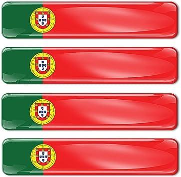 Biomar Labs 4 X Aufkleber 3d Gel Silikon Stickers Portugal Portugiesisch Flagge Fahne Flag Autoaufkleber F 17 Auto