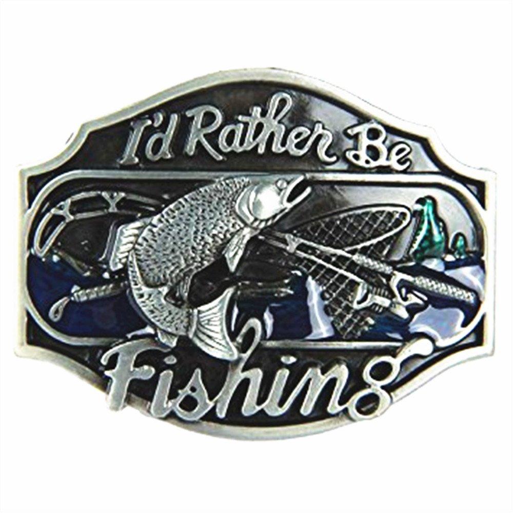 I'd Rather be Fishing Metal Belt Buckle changsheng