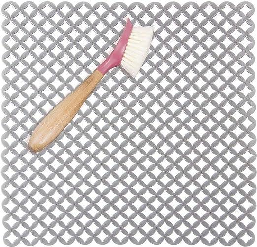 mDesign Alfombrilla silicona protector fregadero Transparente Color Tama/ño 40,6 cm x 31,75cm