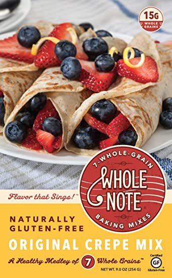Whole Note Crepe Mix, 7-Whole-Grain and Naturally Gluten-Free (Pack of 3)