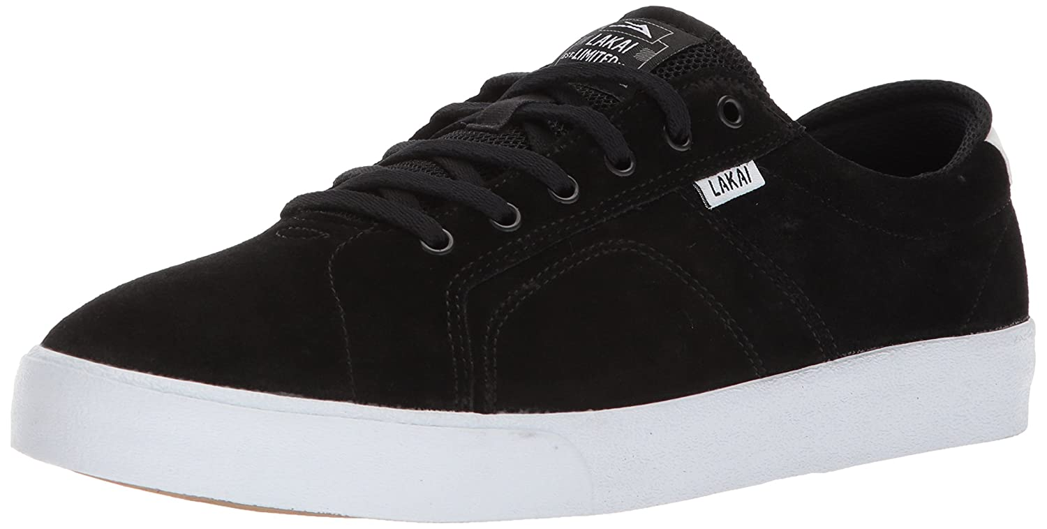 Lakai Flaco Skate Shoe B073SNSY57 10 Medium US|Black/White Suede