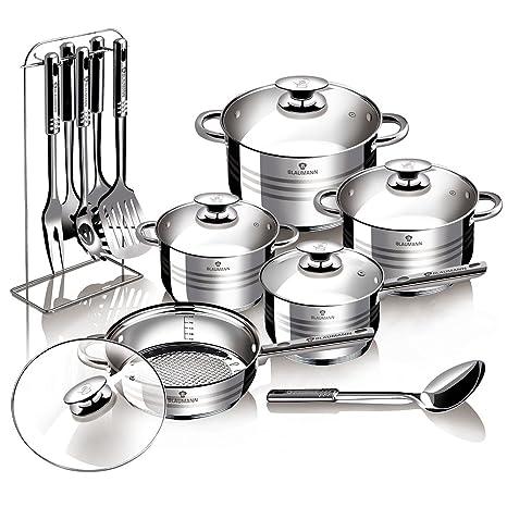 Blaumann Gourmet Line - Batería de cocina de 17piezas, ...