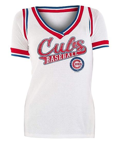 best website 9d519 9989e New Era Chicago Cubs Women's Walk Off Cotton Mesh Jersey T-Shirt