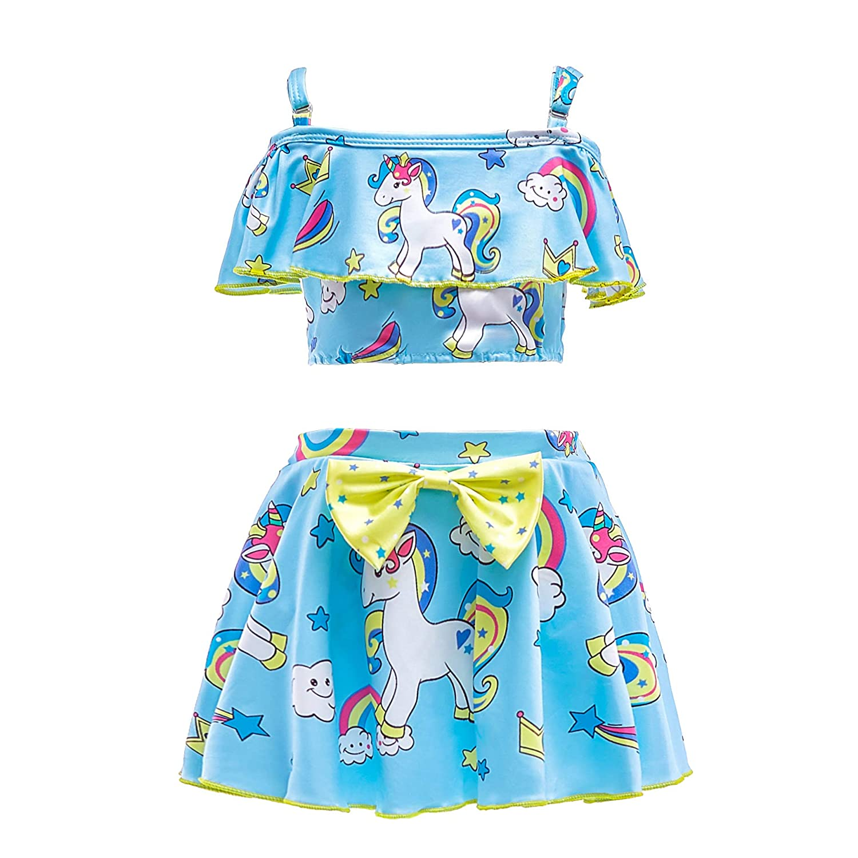 2e7b04d5784af Amazon.com  Dressy Daisy Girls Unicorn Bathing Suit Swimwear Tankini Swimsuit  Little Pony Swimwear  Clothing