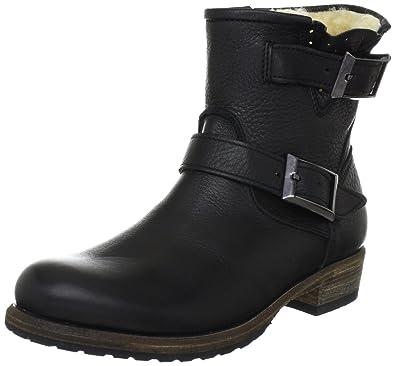 BOOTIE HIGH LEATHER, bottines classiques femme - Noir - Noir, 37 EUBlackstone