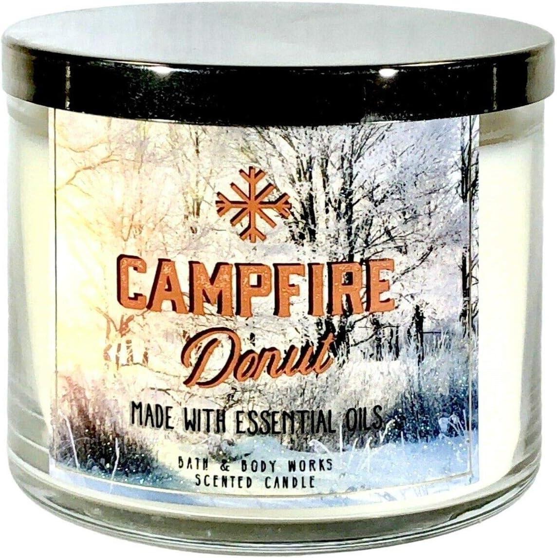 Bath /& Body Works CAMPFIRE PUMPKIN 3 Wick Jar Candle 14.5 oz NEW!