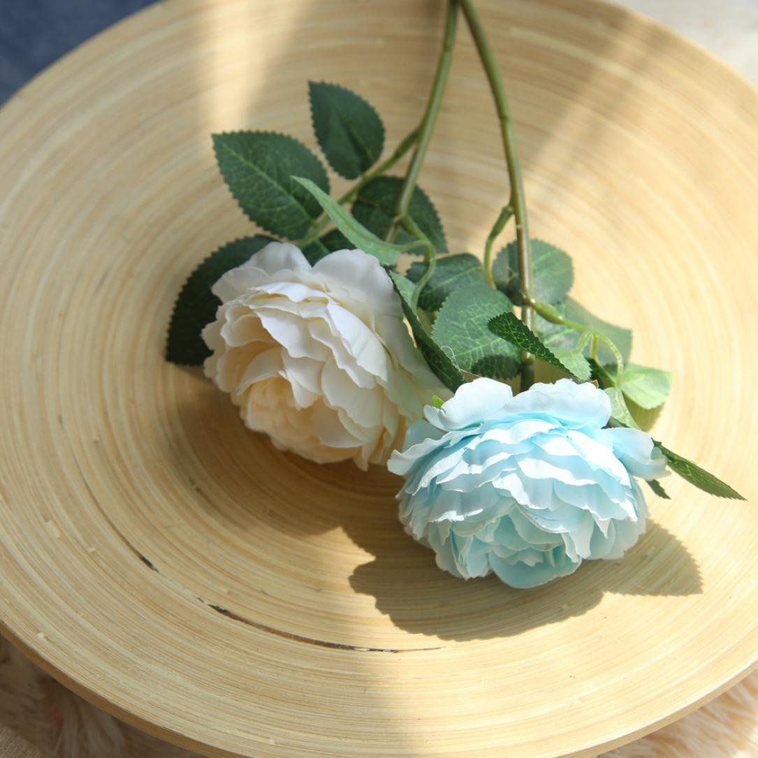 TIREOW Blumenstrau/ß Romantische Hochzeit Bunte K/ünstliche Hochzeitsstrau/ß Rosen Seidenblumen Kunstblumen Blumen Brautstrau/ß der Braut