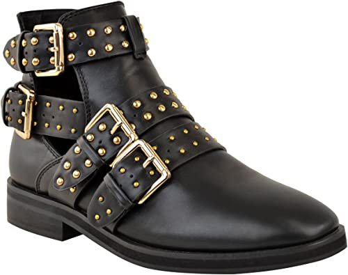 Fashion Thirsty Womens Studded Chelsea