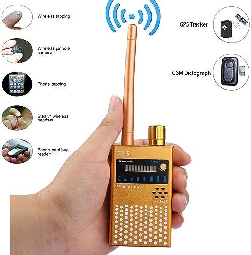 Anti Spy Detector,RF Signal Spy Bug Camera Wireless Detector,GPS Tracker Anti Spy Device Finder for Hidden Camera