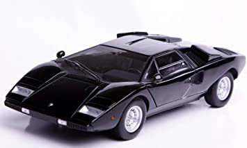 Lamborghini Countach Lp400 In Black 1 18 Scale Diecast Model Car