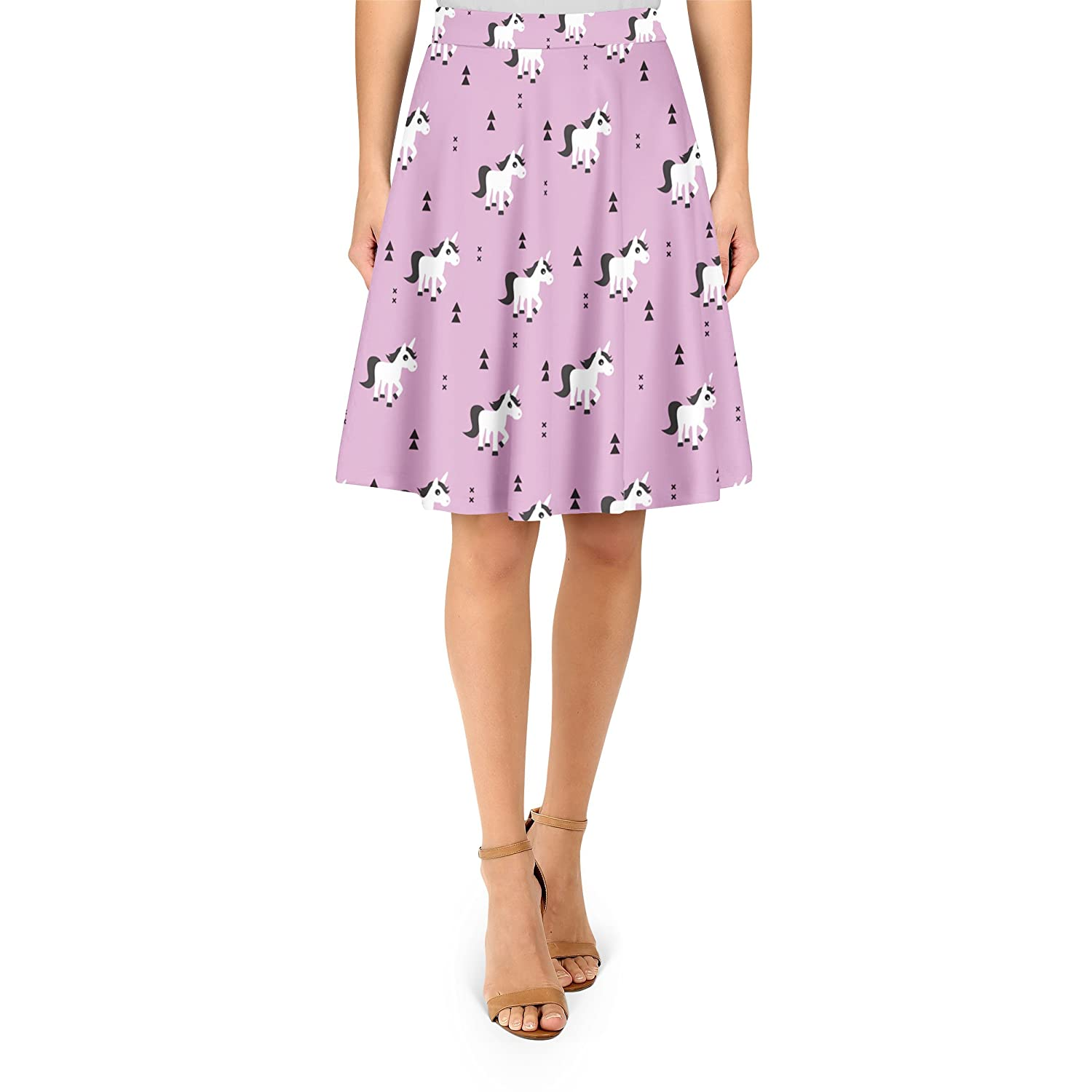 Geometric Unicorns A-Line Skirt