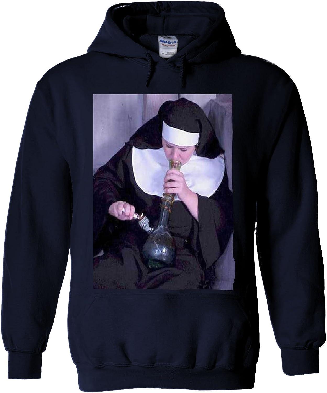 NisabellaLTD Nuns and /& Bongs Weed Funny Smoking White Men Women Unisex Hooded Sweatshirt Hoodie
