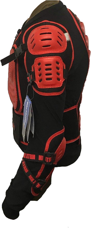 protection pour le buste quad BMX hors route Noir//rouge pour motocross XTRM EDGE Gilet de protection pour enfant homologu/é CE