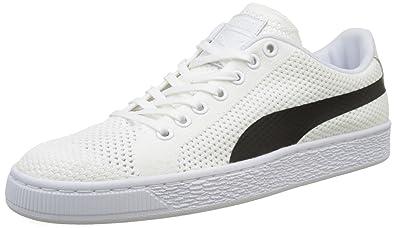timeless design 59c01 f8987 Puma Basket Classic Evoknit Sneakers Basses Mixte Adulte, Blanc White Black  02, 40.5 EU