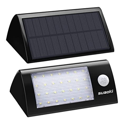suaoki lámpara solar 16 LED solar lámpara de seguridad ...
