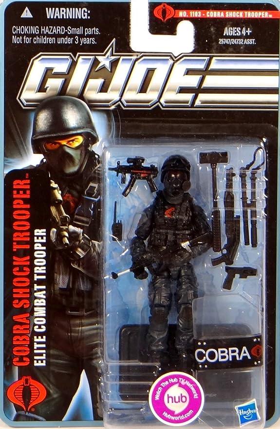 GI Joe The Pursuit Of Cobra - Cobra Shock Trooper Elite Combat 3-3/4 Inch Scale Action Figure No. 1103