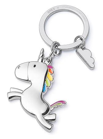 RMEX Unicornio del Vuelo del Llavero con el Arco Iris de la Nube, Llavero, Cuentos de Hadas, Final mágico, Brillante