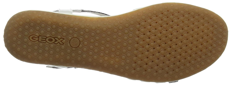 Geox Elfenbein Damen D Vega C Peeptoe Sandalen Elfenbein Geox (Smoke Grau/Off Weiß) 6ecd23