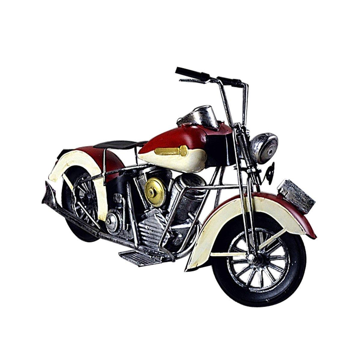 bienvenido a comprar rojo ROMEYA con con con El Estilo Modelo del Arte del Hierro De La Vendimia De La Simulación del Color De La Motocicleta - Europeo,rojo  descuentos y mas