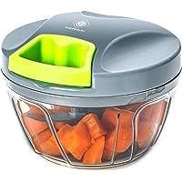 Kalokelvin Picadora Manual, Cortador de Verduras Mini Picadora Manual de Verduras/Ajo y Cebolla/Frutos Secos/Perejil…