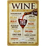OULII Wein aus der rohen Welt Trinken Distressed Vintage Retro-Blechschild Bar Coffee House Party Festival Heimtextilien