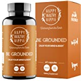 BE Grounded Stress Relief Supplement – Calm Down Now with Happy Healthy Hippie Plant-Based All-Natural Lavender Extract Anti-