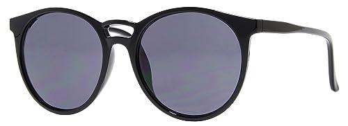 Cheapass Gafas de Sol Damas Redondas Negras de Diseñador Inspiradas