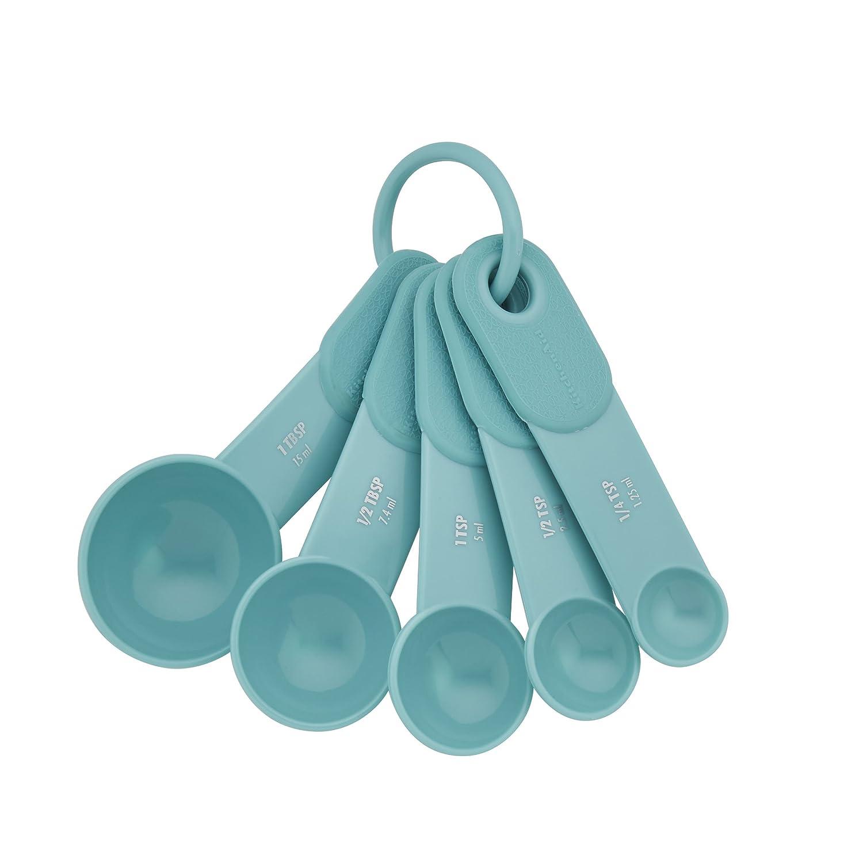 KitchenAid Plastic Measuring Spoons, Set of 5, Aqua Sky