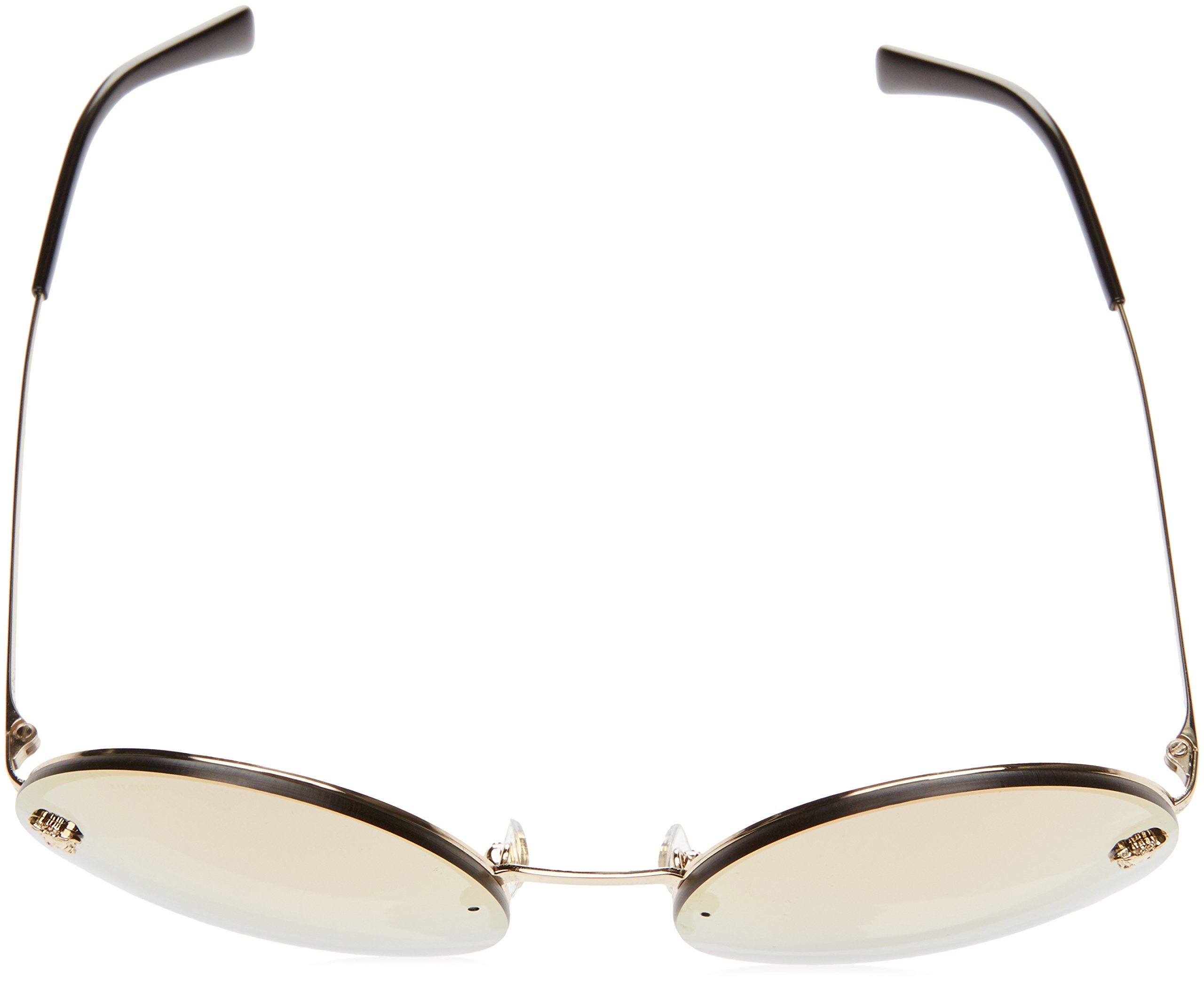 Versace Women's VE2176 Pale Gold/Grey Mirror Rose Gold Sunglasses by Versace (Image #4)