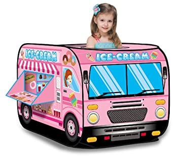 amazon ice cream truckプリンセスピンクpop up play tent