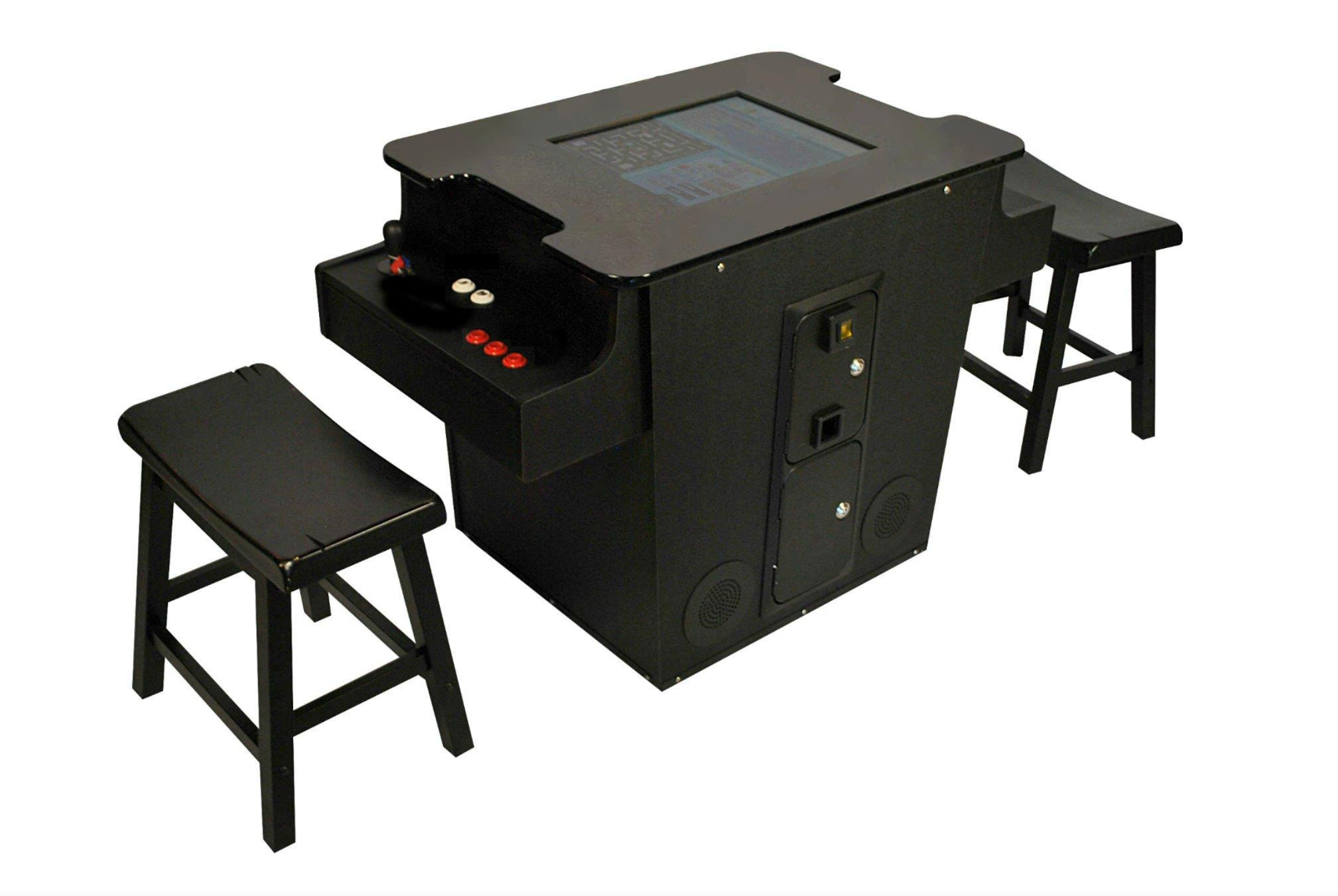 Cocktail Arcade Cabinet Kit Amazoncom Cocktail Arcade Machine 60 Games Includes 2 Stools