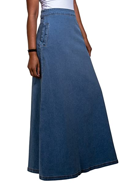 8eb23e90c Wash Clothing Company Lottie Falda Vaquera Larga - Luz Azul Falda Maxi  EU36-50 LOTTIEPW